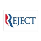 Anti-Romney Reject 20x12 Wall Decal