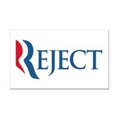 Anti-Romney Reject Rectangle Car Magnet