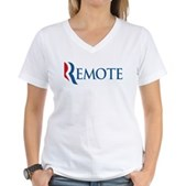 Anti-Romney Remote Women's V-Neck T-Shirt