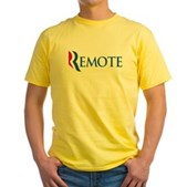 Anti-Romney Remote Yellow T-Shirt