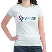 Anti-Romney Reverse Jr. Ringer T-Shirt