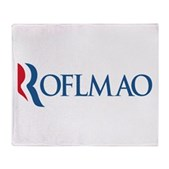 Anti-Romney ROFLMAO Stadium Blanket