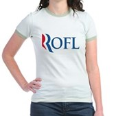 Anti-Romney ROFL Jr. Ringer T-Shirt