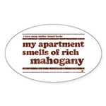 Mahogany Oval Sticker