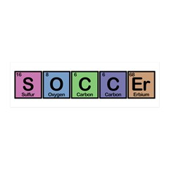Soccer made of Elements Colors 20x6 Wall Decal