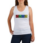 Teacher made of Elements colors Women's Tank Top