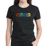 Teacher made of Elements whimsy Women's Dark T-Shirt