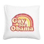 Gay for Obama Square Canvas Pillow