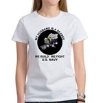 Seabee Husband U.S. Navy Women's T-Shirt