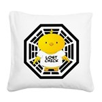 Lost Chick - Dharma Initiativ Square Canvas Pillow