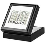 Military Army Sisters Proud Keepsake Box
