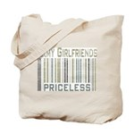 Army Girlfriends Priceless Barcode Tote Bag