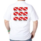 Dive Flags of the World Golf Shirt