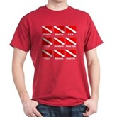 Dive Flags of the World Dark T-Shirt