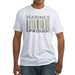 Marines Proud Military Fitted T-Shirt