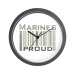 Marines Proud Military Wall Clock