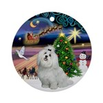 Xmas Magic & Maltese Ornament (Round)