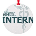 Seattle Grace Intern Round Ornament