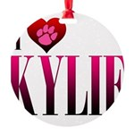 I Heart Kylie Round Ornament