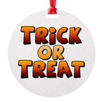Trick or Treat Round Ornament