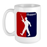 iSupport - Support our Troops Large Mug