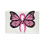 Breast Cancer Butterfly Rectangle Magnet