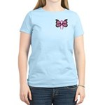 Breast Cancer Butterfly Women's Light T-Shirt