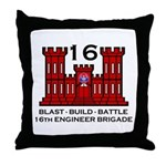 16th Engineer Brigade Throw Pillow