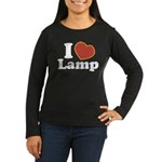I Love Lamp Women's Long Sleeve Dark T-Shirt
