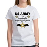 Army Granddaughter Defending Freedom Women's T-Shi