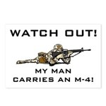WATCH OUT MILITARY MAN M-4 Postcards (Package of 8