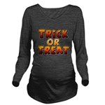 Trick or Treat Long Sleeve Maternity T-Shirt