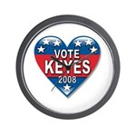 Vote Alan Keyes 2008 Political Wall Clock
