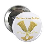 Golden Father of the Bride Button