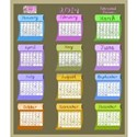 2014 calendar fabric bolts months days weekdays T-