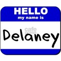 hello my name is delaney White T-Shirt
