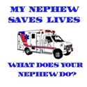Ambulance Saves Lives-Nephew White T-Shirt