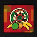 Red Kwanzaa design with fruit & shield.png T-Shirt