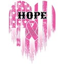 Breast Cancer Hope White T-Shirt
