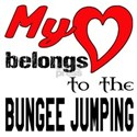 My Heart belongs to the Bungee Jumpi White T-Shirt