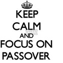 Keep Calm and focus on Passover White T-Shirt