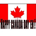 HAPPY CANADA EH! White T-Shirt