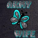 Army Wife Butterfly Turq T-Shirt