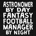 Astronomer Fantasy Football Manager T-Shirt