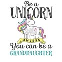 Unicorn GRANDDAUGHTER White T-Shirt