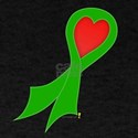 Green Ribbon with Heart T-Shirt
