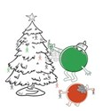 Christmas Balls Hanging People T-Shirt