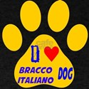 I Love Bracco Italiano Dog T-Shirt