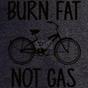 Burn Fat Not Gas Bicycle T-Shirt