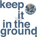 Keep It In The Ground White T-Shirt
